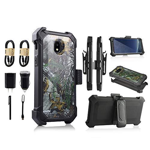 - Samsung Galaxy J3 2018, J3V J3 V 3rd Gen,Express Prime 3, J3 Star, J3 Achieve, Amp Prime 3 Case, Heavy Duty Armor Shockproof Protection Case Cover With Belt Swivel Clip Kickstand [Value Bundle] (Camo)