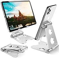Support Téléphone, Support Tablette, Universel Porte Téléphone Bureau Adjustable, Support Smartphone Solide pour iPhone...