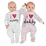 Unisex-Baby Newborn Organic Cotton I Love Daddy