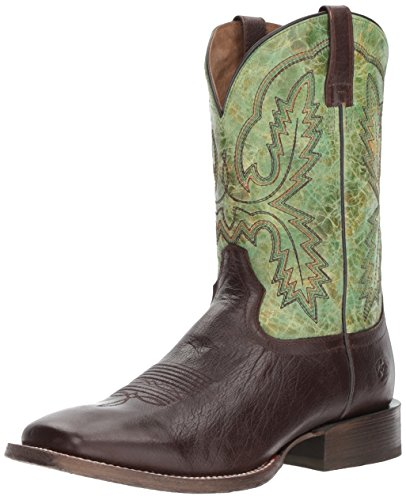 Ariat Men's Circuit Dayworker Western Boot, Kickin Cocoa/Rawhide Green, 10.5 D US - Deco Cocoa