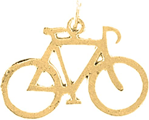 19 mm Jewels Obsession 14K Yellow Gold Saddle Pendant