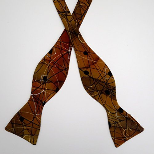 100% Silk Hand-Painted Hand-Made Men's Self Tie Bow Tie ''Free Spirit'' Art to Wear by Murphyties by Murphyties Inc.