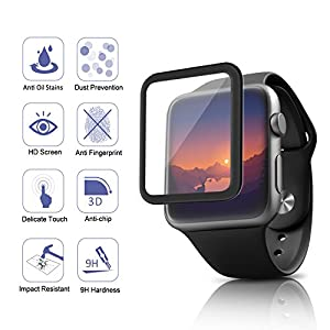 Apple Watch Screen Protector,Amoner Tempered Glass Screen Protector by Amoner