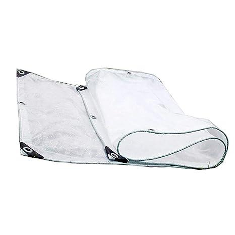 LIANGLIANG Toldo Lona Alquitranada Tela Transparent Heavy Duty Sheet Outdoor Rainproof Sunscreen Lona Multipropósito Metal Ojal
