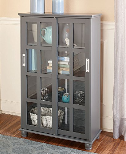 The Lakeside Collection Sliding Door Cabinet - Gray ()