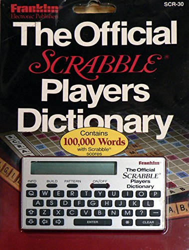 Franklin The Official Scrabble Players Dictionary Model SCR-30