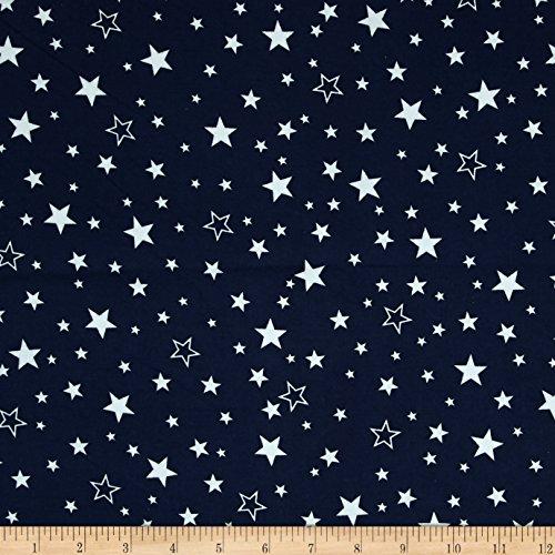 Robert Kaufman Kaufman Cozy Cotton Flannel Stars Navy Fabric by The Yard