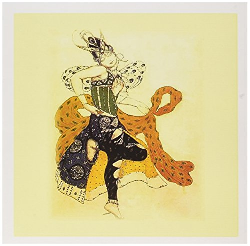 3dRose Russian Painter Bakst Art Deco Costume Design.jpg - Greeting Cards, 6 x 6 inches, set of 12 (gc_98627_2)