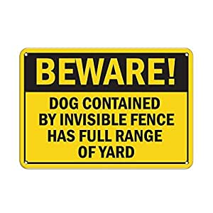 Amazon Com Delia32agnes Beware Dog Contained By