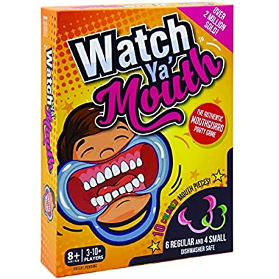 Watch Ya' Mouth Family Edition - The Authentic, Hilarious, Mouthguard Party Game: Toys & Games