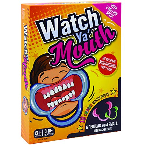 Watch Ya' Mouth Family Edition - The Authentic, Hilarious, Mouthguard Party Game (Games Christmas Family Party Funny)