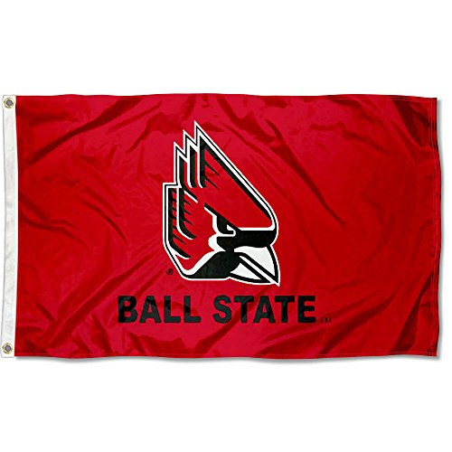 (College Flags and Banners Co. Ball State Cardinals New Logo Flag)