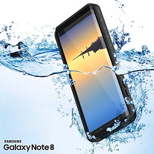 Galaxy Note 8 Waterproof Case, Punkcase [StudStar Series] [Slim Fit] [IP68 Certified] [Shockproof] [Dirtproof] [Snowproof] Armor Cover for Samsung Galaxy Note 8
