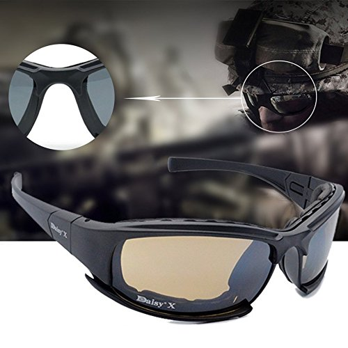 X7 Tactical Shooting Goggles Polarized Cycling Sunglasses with Night Vision by CLKJYF