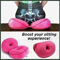 Amazon.com: Cojín ortopédico de asiento de doble comodidad ...