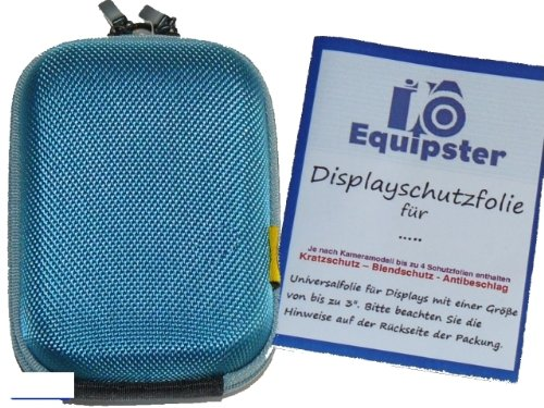 equipster-Camera-Accessory-Set-with-Hard-Case-and-Screen-Protector-for-Casio-Exilim-EX-ZR400-Blue