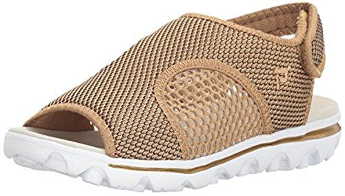 Propet Womens Travelactiv Ss Shoe & Oxy Cleaner Bundle Oro / Nero