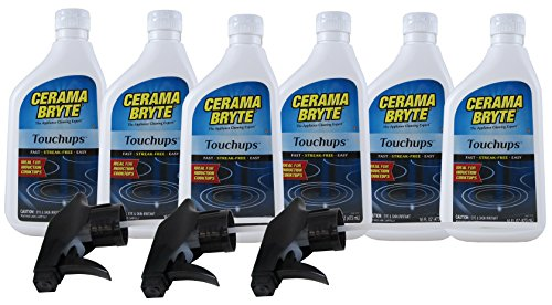 Cerama Bryte Touchups Glass-Ceramic Cooktop Cleaner Spray, 6 Count by Cerama Bryte (Image #1)