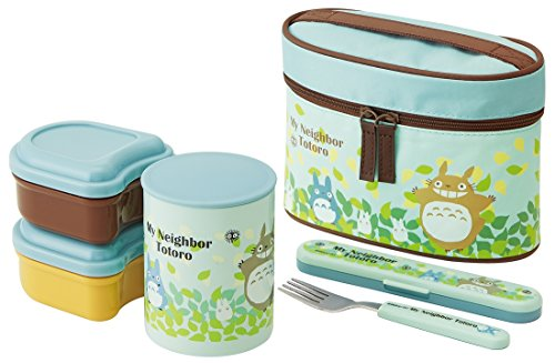 Totoro Design Thermal Bento Lunch Box Set (3 Food Containers, Fork & Bag) by Totoro