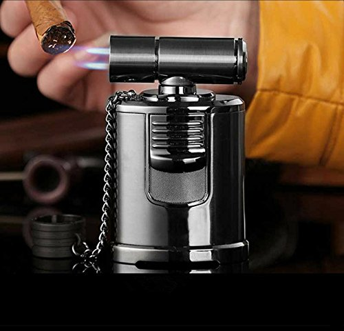 - Best Cigar Lighter - High End Table Top 4 Jet Adjustable Torch -Windproof - Italian Inspired Design - Cigar Aficionado Must - Best Dabber Tool - High Capacity Butane Tank - Culinary Creme Brulee Torch