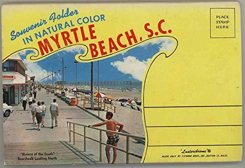 Myrtle Beach South Carolina - Unused 1959 Tichnor Souvenir Postcard Folder