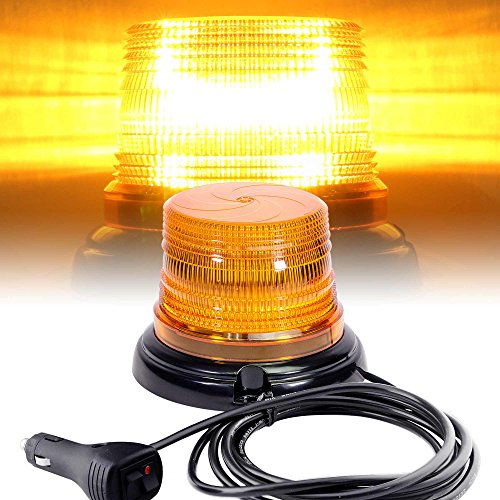 LAMPHUS-mini-AURA-4-Amber-LED-Beacon-Light-SAE-Class-3-Low-Dome-4W-Emergency-Vehicle-Strobe-Warning-Light-NEW-IMPROVED-VERSION