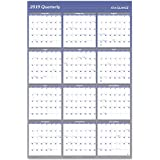"""AT-A-GLANCE 2019 Yearly Wall Calendar, 48"""" x 32"""", Jumbo, Erasable, Dry Erase, Reversible, Vertical/Horizontal, Blue (A1152)"""