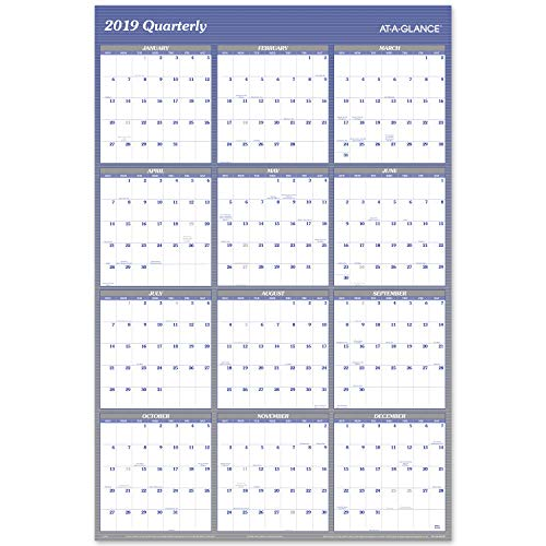 Planner Erasable (AT-A-GLANCE 2019 Yearly Wall Calendar, 48