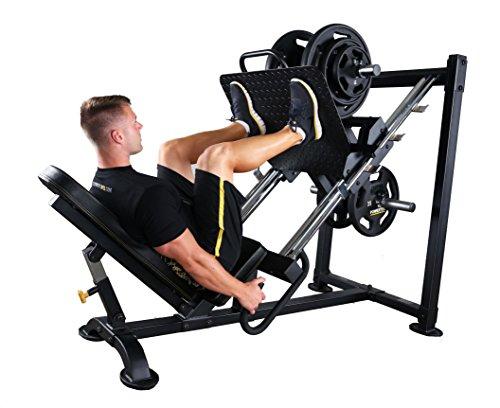 Powertec fitness leg press black home gym weight machines