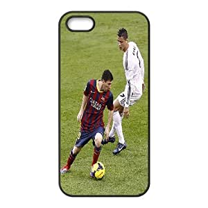 For SamSung Note 4 Phone Case Cover Lionel Messi C. Ronaldo On Field Cheap For Boys, For SamSung Note 4 Phone Case Cover Yearinspace, [Black]