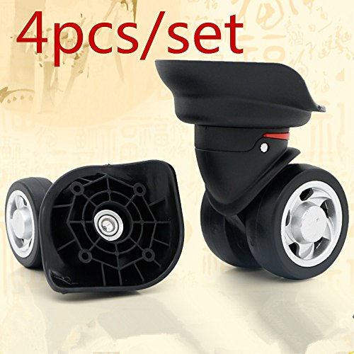 (4pcs /set Mute Connected wheels for replacement luggage wheels Wear silent Draw bar box DIY W055#)