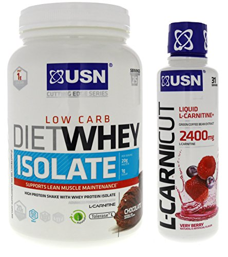 Amazon.com: USN Diet Whey Isolate, Cinnamon Bun, 1.5 Pounds, 25 Servings: Health & Personal Care