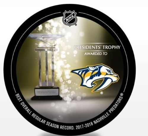 - The Hockey Company 2018 Predators Presidents Trophy Puck Most Wins Stanley Cup Finals Pre-Order Item - Shipping Begins on May 14th Nashville