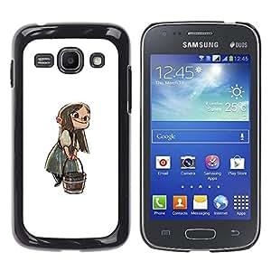 Shell-Star Arte & diseño plástico duro Fundas Cover Cubre Hard Case Cover para Samsung Galaxy Ace 3 III / GT-S7270 / GT-S7275 / GT-S7272 ( Anime Girl Cartoon Fairy Tale Character Bucket )
