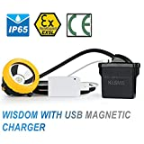 Super MAGNETIC USB CHARGING! MAXTRA Kl5MS LUX 10000 Li-ion Battery LED Miner Head Light, for Mining Lamp Hunting Camping Hiking