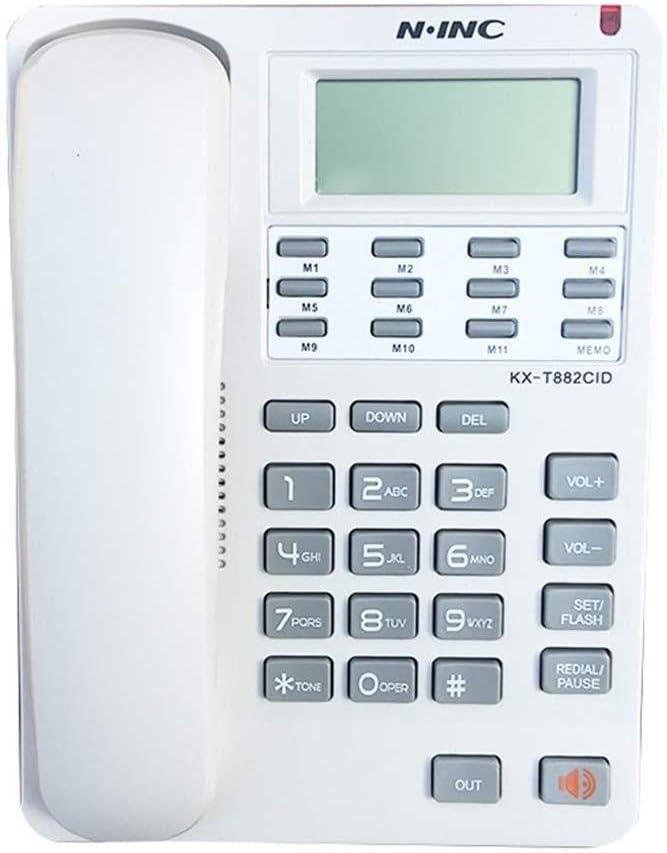 1375381 Teléfono Fijo Teléfono de la Empresa Línea Fija montada en la Pared del hogar Teléfono Fijo con Cable de teléfono de Oficina teléfono con contestador automático de identificación de Llamadas