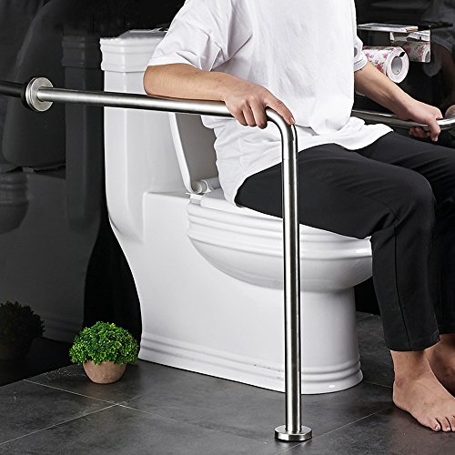 (QFFL fushou Bathroom Handrails/Stainless Steel Grab Rails/Toilet Shower Grab Bar/Elderly Non-Slip L-Shaped Safety Toilet Armrest)
