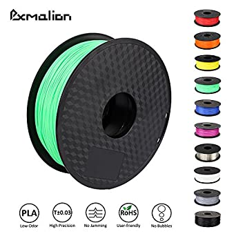 Pxmalion PLA 3D Filament, Medium Spring Green, 1.75mm, Accuracy +/- 0.03mm, Net Weight 1KG(2.2LB), Compatible with most 3D Printer & 3D Printing Pen