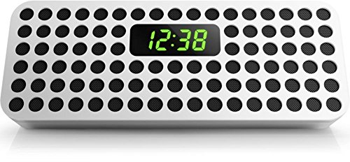 Philips Bluetooth Wireless Speaker with Clock Display (White) (Certified Refurbished) (Philips Bluetooth Wireless Speaker With Clock Display)