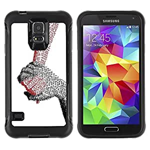 Be-Star único patrón Impacto Shock - Absorción y Anti-Arañazos Funda Carcasa Case Bumper Para SAMSUNG Galaxy S5 V / i9600 / SM-G900F / SM-G900M / SM-G900A / SM-G900T / SM-G900W8 ( Hands Of Love )