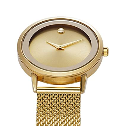 Amazon.com: Reloj De Mujer Moda Fashion Women Ultra Thin Quartz Watch Mesh Belt Stainless Steel Band RE0071: Watches