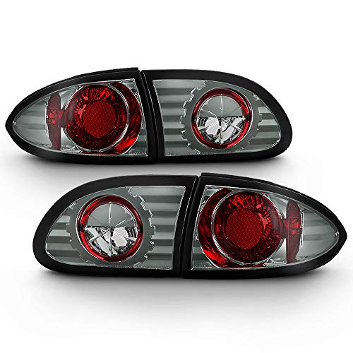 ACANII - For 1995-2002 Chevy Cavalier Smoked Rear Tail Lights Brake Lamps Pair Driver & Passenger