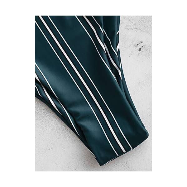 ZAFUL Costumi da Bagno Donna in Due Pezzi Bikini Set Imbottito Estate Slip Brasiliano Annodato a Righe 5 spesavip