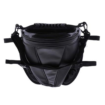 KESOTO Mini Bolsa de Cuero para Moto/Bolsas de Equipaje ...