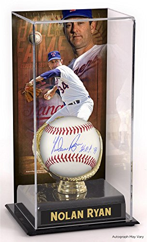 Nolan Ryan Texas Rangers Autographed Baseball with HOF Inscription and Hall of Fame Sublimated Display Case with Image - Fanatics Authentic Certified