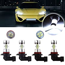CCIYU 9005+9006 Xenon White 60W 6000K Cree LED 12 SMD Headlight hi/Low Beam Sharp High Power(Pack of 4 Total)