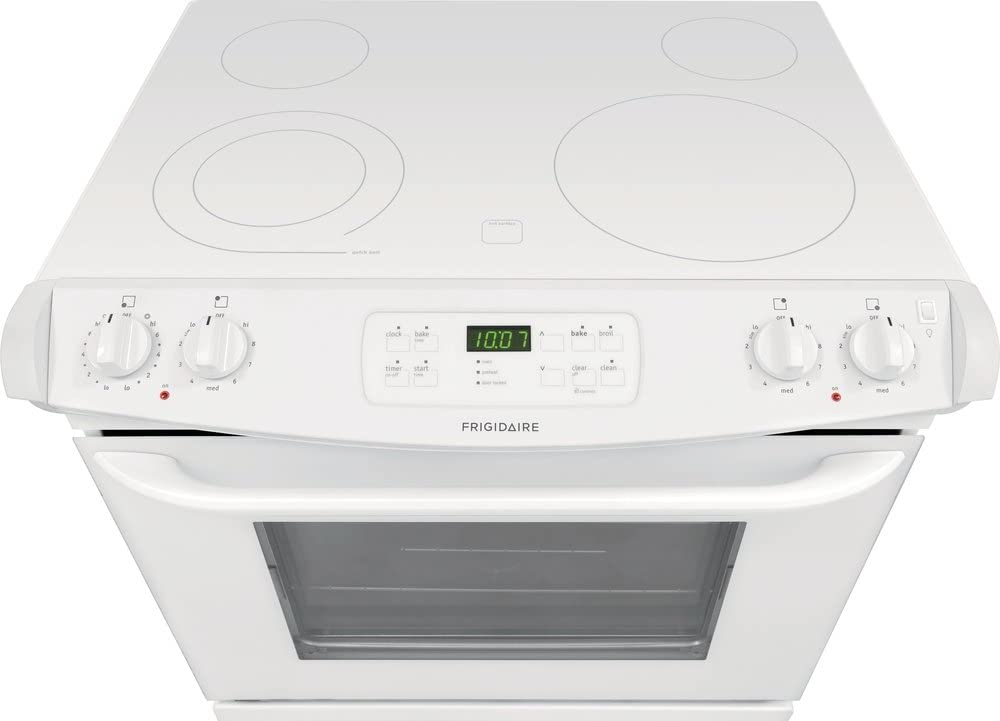 Frigidaire 30 White Drop-In Smoothtop Cooktop Electric Range ...