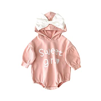 e0ac23e21e59f Amazon.com : Baby Long Sleeve Romper Jumpsuit with Sweet Girl ...