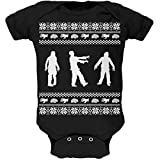 Zombie Ugly Christmas Sweater Black Soft Infant Bodysuit - 12-18 months