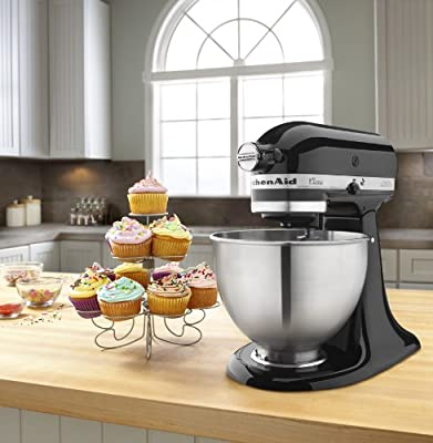 KitchenAid K45SSWH K45SS Classic 275-Watt 4-1/2-Quart Stand Mixer from Kitchenaid